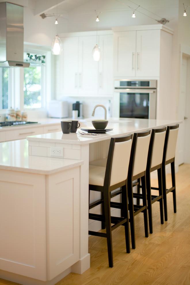 White Greene County Kitchen - Contemporary - Kitchen ...