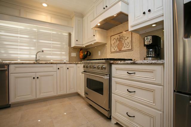 White Hand Glazed Kitchen traditional-kitchen