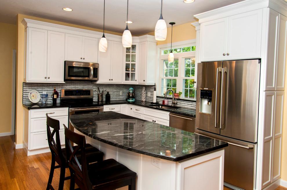 White Hometown Kitchen Plymouth Ma Transitional Kitchen Boston By White Wood Kitchens