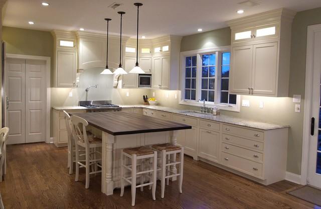 White Inset Door Kitchen in Gladwyne traditional-kitchen