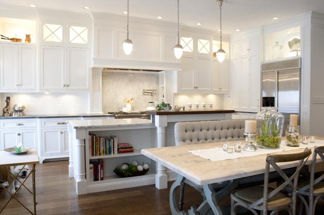 White Inset Kitchen Traditional Kitchen Salt Lake