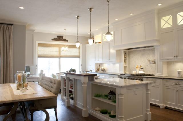 White inset kitchen traditional kitchen salt lake for Hamptons style kitchen splashback
