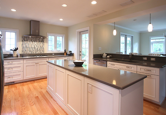 White Island Gray Countertop Traditional Kitchen Dc Metro By Nvs Remodeling Amp Design