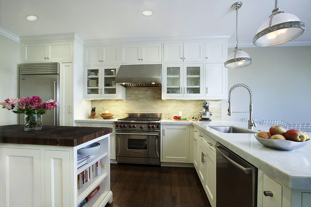 White Kitchen traditional-kitchen