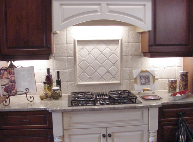White kitchen backsplash tile - traditional - kitchen - raleigh ...