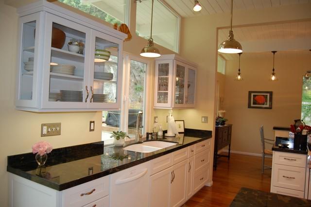 White Kitchen Contemporary Kitchen Los Angeles By Burke Kitchen Bath Design