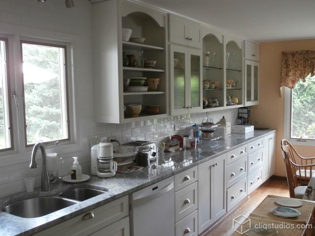 White kitchen cabinets transitional kitchen chicago for Kitchen cabinets chicago
