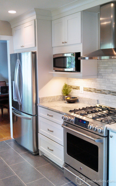White Kitchen Cabinets Contemporary Kitchen Minneapolis By
