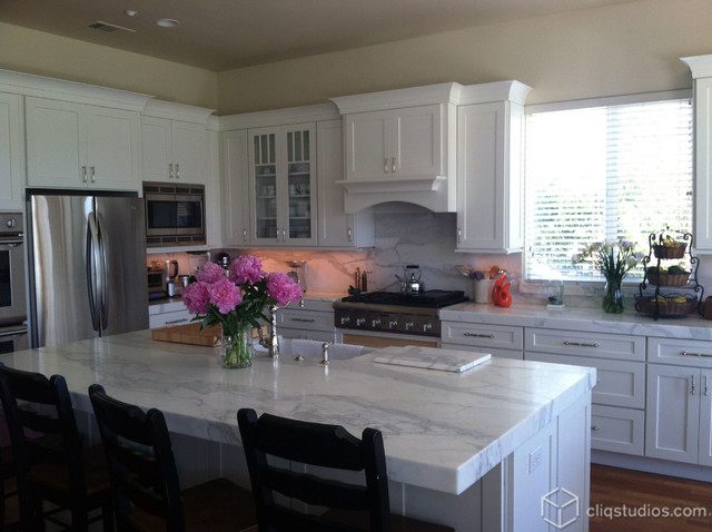 Transitional White Kitchen Cabinets white kitchen cabinets - transitional - kitchen - chicago -