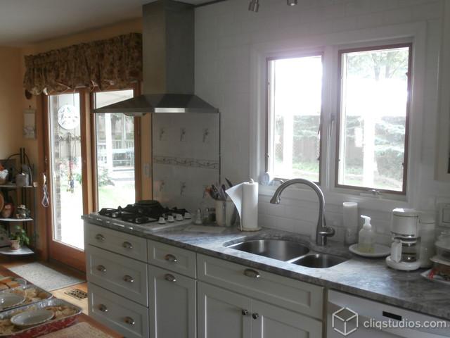 White kitchen cabinets transitional kitchen chicago by