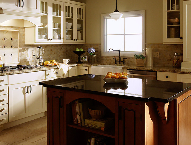 White Kitchen Cabinets | Maple Kitchen Cabinets | Rockford Door Style | Inset Ki contemporary-kitchen