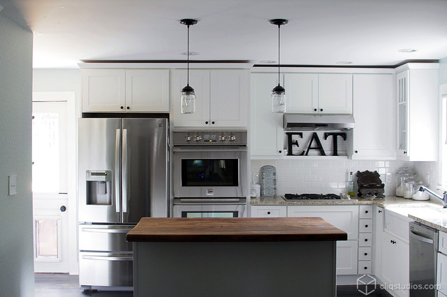 White Kitchen Cabinets Mission Cabinetry Cliqstudios Contemporary Kitchen Minneapolis By Cliqstudios Houzz