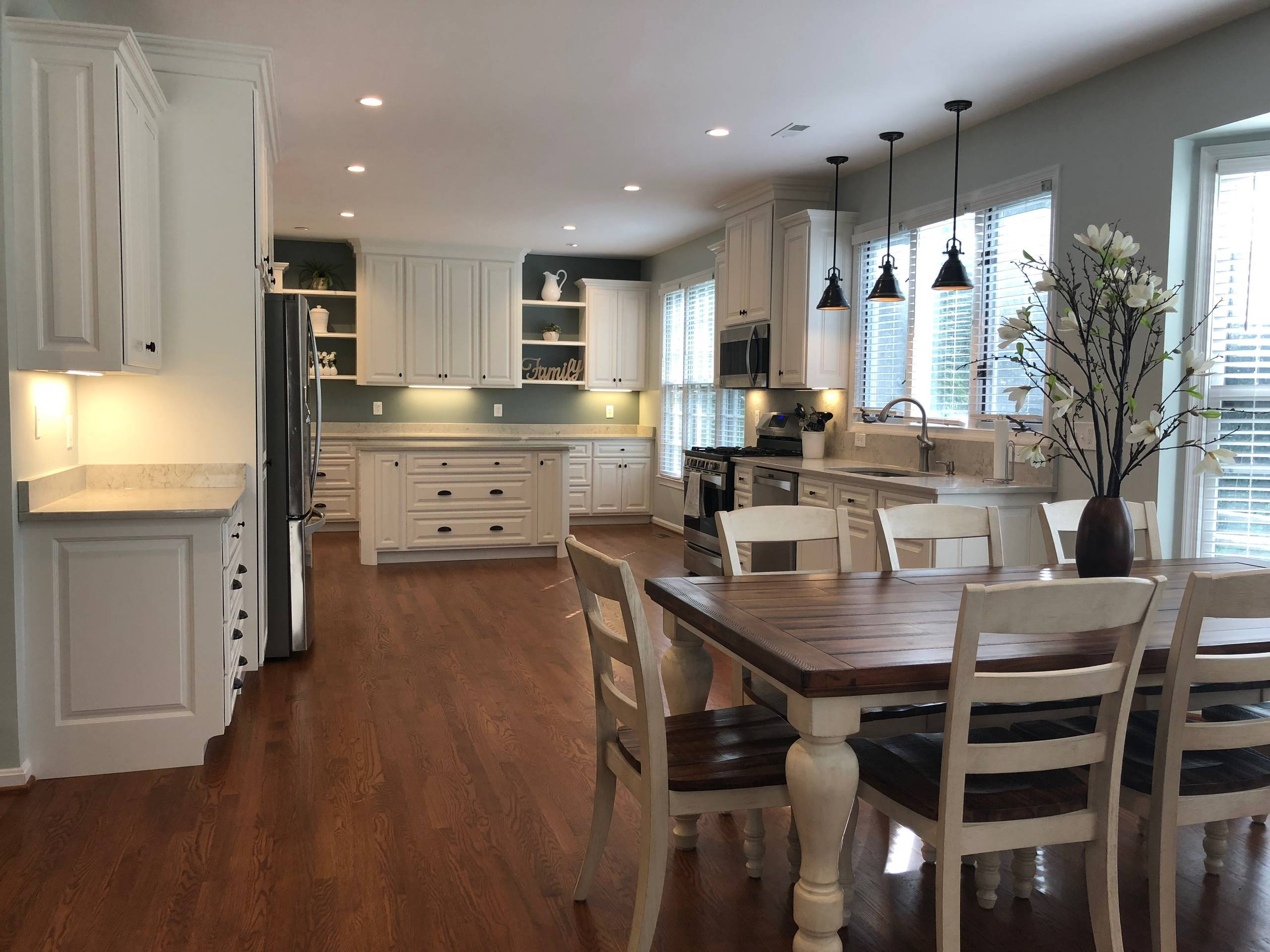 White Kitchen Cabinets Remodel