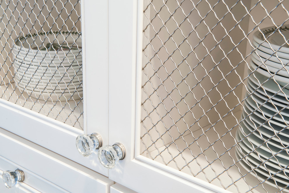 White Kitchen Cabinets With Chicken Wire Insert Traditional Kitchen Indianapolis By Case Design Remodeling Of Indianapolis Houzz