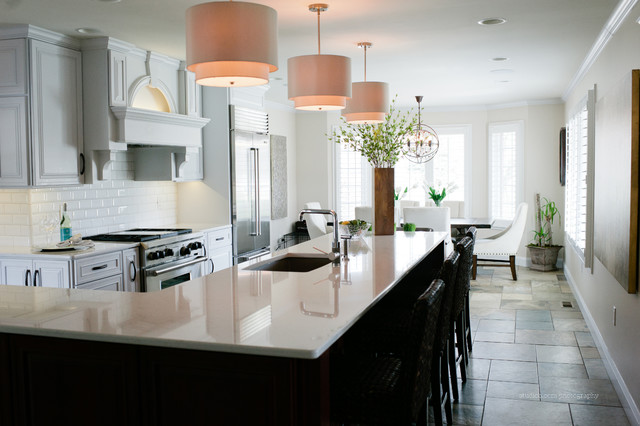 White Kitchen Transitional Kitchen Chicago By Cb Design Elements Llc