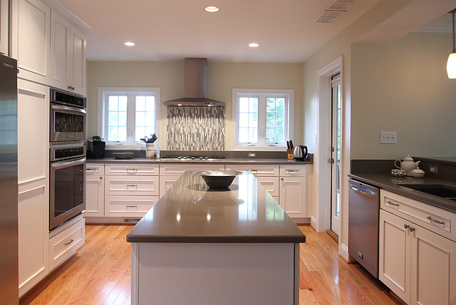 White Kitchen Gray Countertops Traditional Kitchen Dc Metro By Nvs Remodeling Design