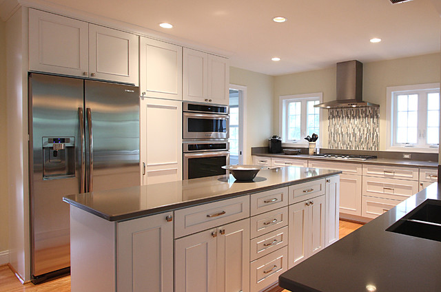 white kitchen mosaic backsplash traditional kitchen dc metro