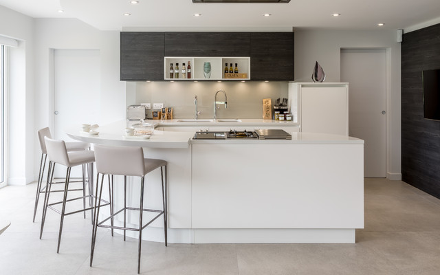 White Kitchen Near London Contemporary Kitchen London By Pedini London