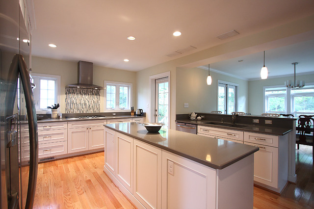 White Kitchen Oak Floors Traditional Kitchen DC Metro by