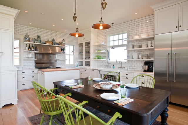 White Kitchen Farmhouse Kitchen Other Metro By