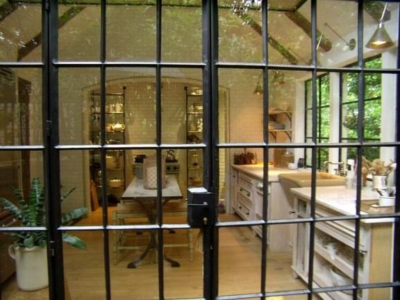 White Kitchen Steel  Windows kitchen