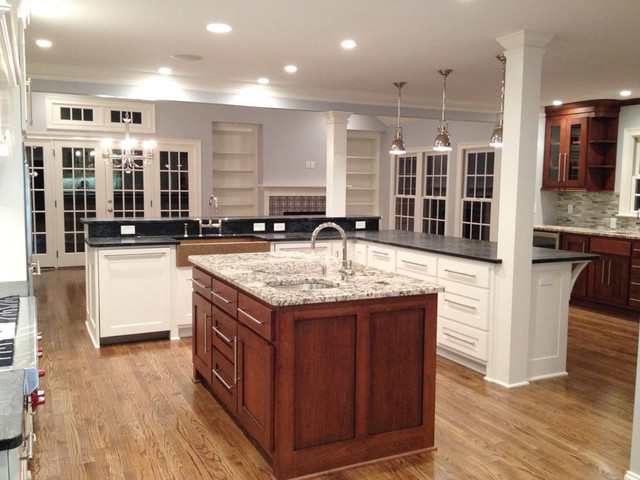 White Kitchen With Rachiele Copper Apron Front Sink Traditional