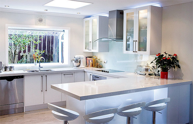 White Kitchens Contemporary Kitchen Auckland By Jag Kitchens