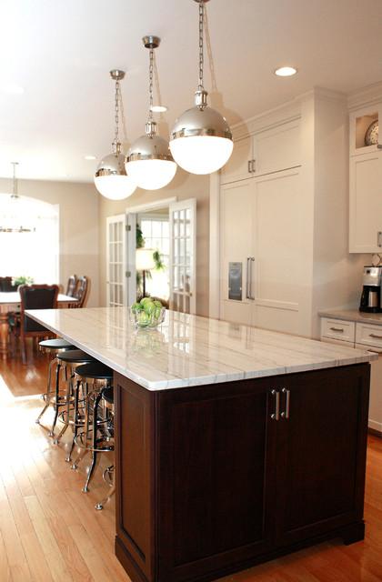 White Macaubas Quartzite Kitchen contemporary-kitchen