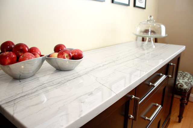 White Macaubas Quartzite Kitchen Contemporary Kitchen