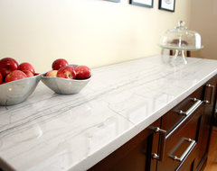 White Macaubas Quartzite Kitchen contemporary-kitchen