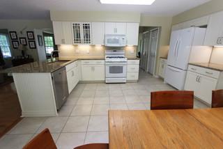 White Maple Kitchen with New Venetian Gold Granite Countertop ~ Avon Lake, OH