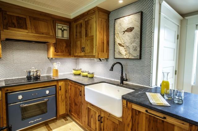 Rustic kitchen sink kitchen design ideas white marble kitchen sink rustic chicago by geberit workwithnaturefo
