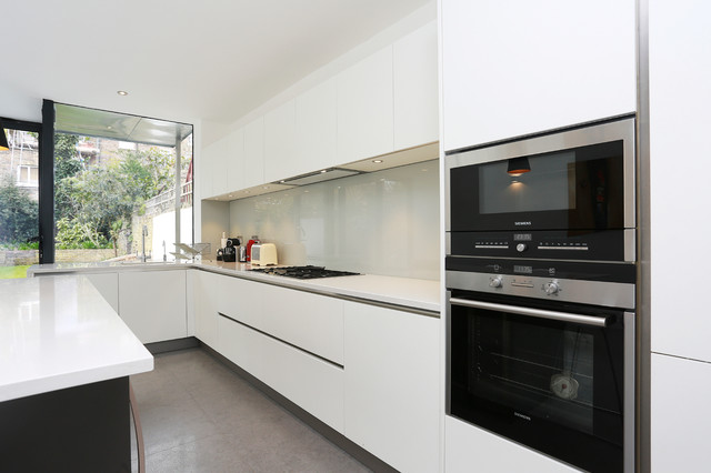 White Matt Kitchen Design Modern Kitchen London By Lwk Kitchens London