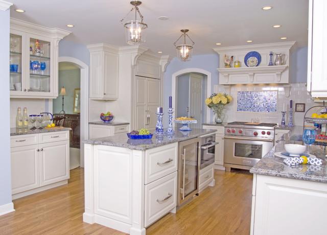 White Modern Classic Kitchen traditional-kitchen
