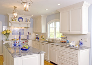 White Modern Classic Kitchen traditional kitchen