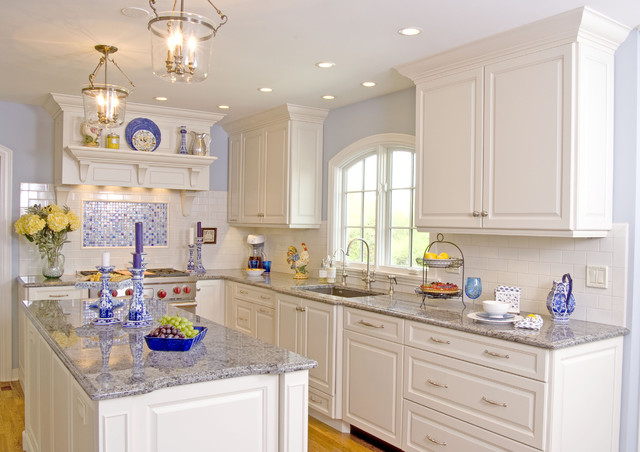 White Modern Classic Kitchen Traditional Kitchen Miami By