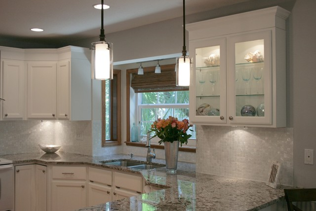 white mother of pearl 1 x 1 backsplash traditional