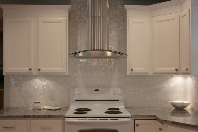 design kitchen backsplash white of pearl 1 quot x 1 quot backsplash traditional 3173