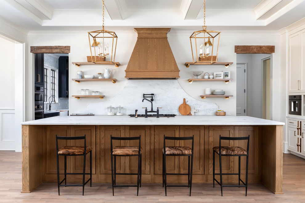 Kitchen - coastal kitchen idea in Charlotte