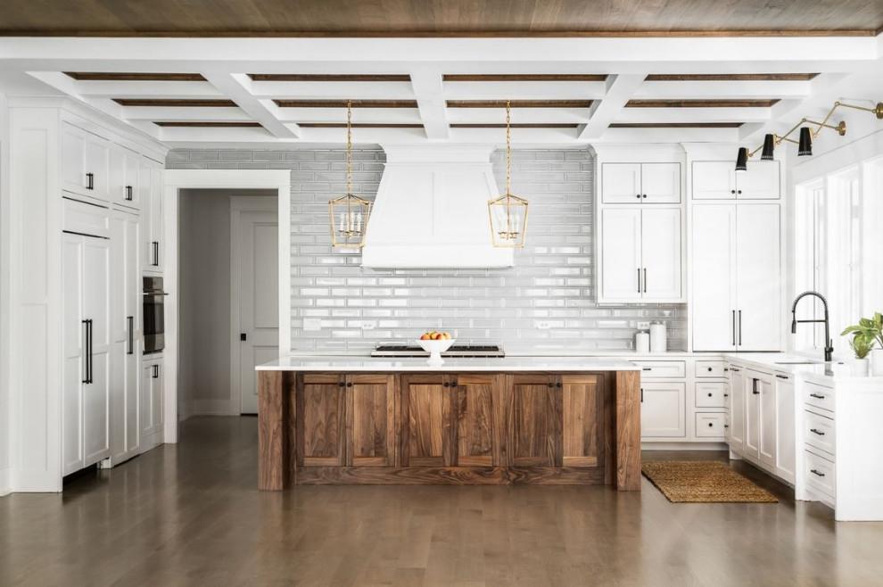 White Oak Modern Farmhouse Kitchen Farmhouse Kitchen Chicago By Meyer Design Houzz