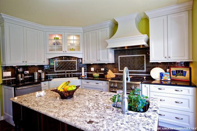 White on Green Kitchen contemporary-kitchen