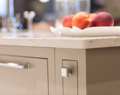 White on White Transitional Kitchen transitional