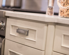 White on White Transitional Kitchen transitional-