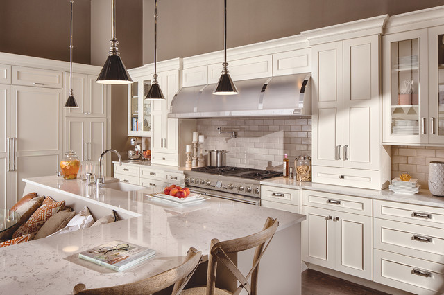 Transitional White Kitchen Cabinets white on white transitional kitchen - transitional - kitchen