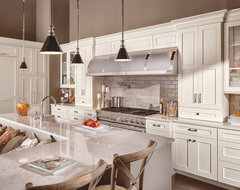 White on White Transitional Kitchen traditional kitchen