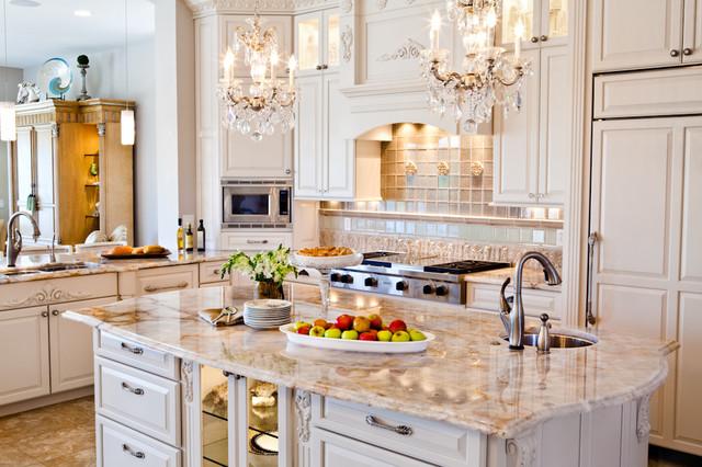 White Ornate Traditional Kitchen Renovation St Louis Mo