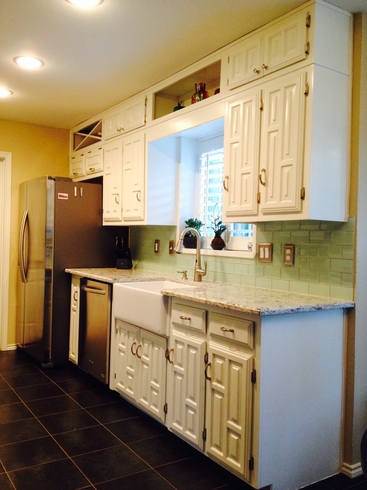 White Painted Cabinets - Traditional - Kitchen - Dallas ...