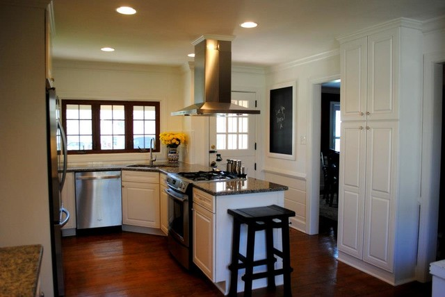 how to tile a kitchen floor on concrete white painted raised panel doors caledonia granite white 9838