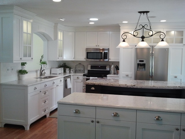 mission style kitchen cabinets traditional light wood