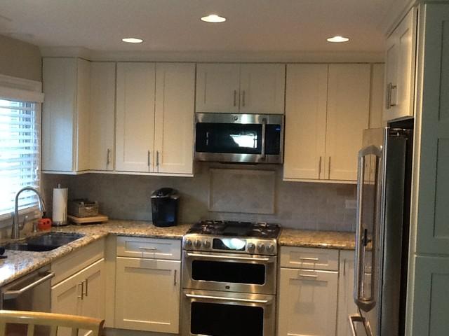 White Paradise contemporary-kitchen